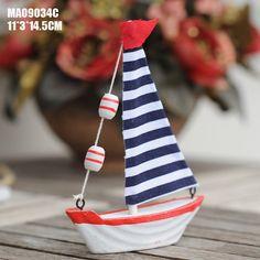 Aliexpress.com: Compre Estilo mediterrâneo Mini barcos à vela para crianças idéias do presente de aniversário pequenos ornamentos de confiança motor do barco fornecedores em Eternal Household Artware
