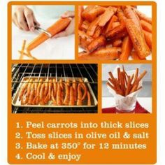 Oven baked carrot chips
