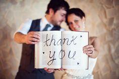 Creative wedding photo ideas: THANK-YOU
