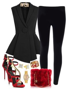 FOLLOW ME ON IG @INFINITY_SHE_FASHION!!  Thursday Vibes!! by infinityshefashion on Polyvore featuring Givenchy, Giuseppe Zanotti, Chanel, Moschino, Rolex, Versace, women's clothing, women's fashion, women and female