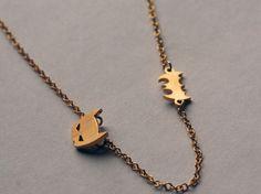 Batman Necklace, Gold Batman Charm Necklace