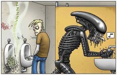 Mit Alien auf Toilette-Dravens Tales from the Crypt