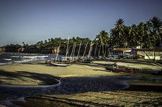 River and beach - Caraubas beach, state of Rio Grande do Norte, Brazil