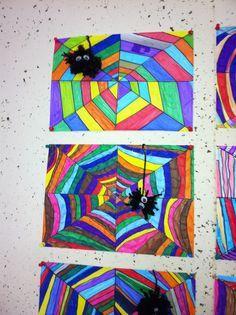 Herfst - Regenboog spinnenweb