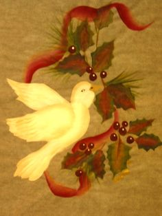 Dove.  One Stroke Painting by Susan Earl.