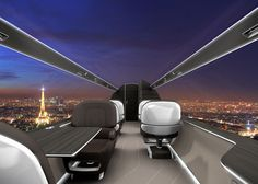 Ixion Jet Concept Forgoes Windows for Floor-to-Ceiling Digital Screens