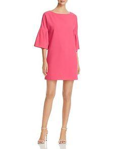 3549bcac Badgley Mischka Bell-Sleeve Shift Dress - 100% Exclusive Women -  Bloomingdale's