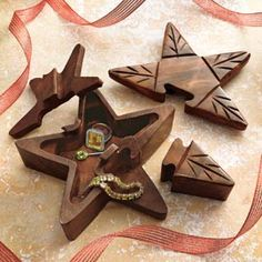 Star Puzzle Box, Handcrafted Wooden Puzzle Box | Solutions