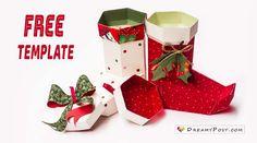 Сделай это 5 использует Рождественский чулок с моей бесплатный шаблон и пошаговое руководство. Вы можете использовать эту бумагу для мобильный стенд, подарочная коробка...