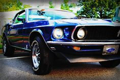 One day I will own a blue Mustang.