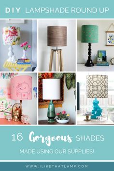 DIY Lampshade Round Up: 16 Gorgeous Shades Made with Our Supplies!
