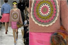 Moschino Cheap & Chic Fall 2012 Crochet Cardigan, Knit Crochet, Moschino, Vest Jacket, Straw Bag, Knitwear, Reusable Tote Bags, Wool, Knitting