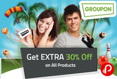 @groupon #offering extra 30% off on all products till 11th october. Groupon Code : FESTIVE30 http://www.paisebachaoindia.com/get-extra-30-off-on-all-products-groupon/
