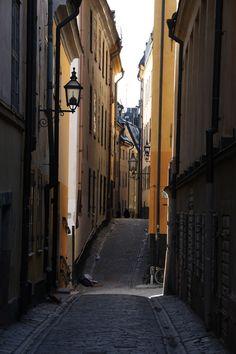 Streets of old town Gamla Stan in Stockholm, Uppland, Svealand_ Sweden