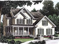 Country House Plan with 1811 Square Feet and 3 Bedrooms(s) from Dream Home Source | House Plan Code DHSW04258