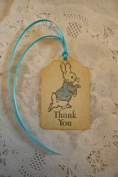 Peter Rabbit Baby Shower Tag / Party Favor Tag / by FyreflyHollow
