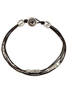 Fossil® Leather Bracelet