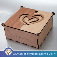 Love Heart Wooden Box template for laser cutting, search – Laser Ready Templates Laser Cutter Ideas, Laser Cutter Projects, Cnc Projects, Painted Wooden Boxes, Wooden Gift Boxes, Wooden Jewelry Boxes, Laser Cut Box, Laser Cutting, Wooden Box Designs