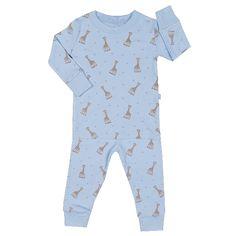 Kissy Kissy - Sophie La Girafe Print Pajamas - Blue