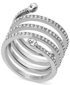 Michael Kors Pave Crystal Twist Ring