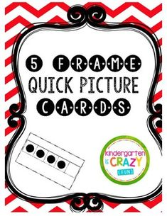 Our youngest learners require a strong number sense foundation to excel in math. These 5 frame quick picture flash cards will help Pre-K, Kindergarten, and struggling first graders learn to visually identify (subitize) quantities from 0-5 with ease.