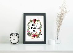 Happy Mother's Day - printable art to decorate your home for this special day.  Makes a wonderful gift for mom, grandma, sister or adoptive mom
