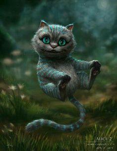 The Cheshire Cat - Alice in Wonderland Art Disney, Disney Kunst, Chesire Cat, Cheshire Cat Drawing, Cheshire Cat Tattoo, Cheshire Cat Wallpaper, Alice Madness, Adventures In Wonderland, Fantasy Art