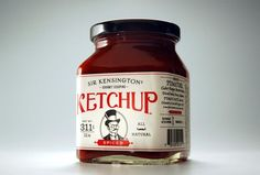 Ketchup #packaging #pack #mustache #moustache #rebel #blog #style #life #grow #package