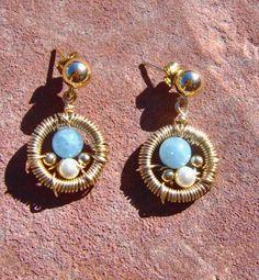 Woven Mini Hoop Earrings by jewelryinvegas on Etsy, $38.00