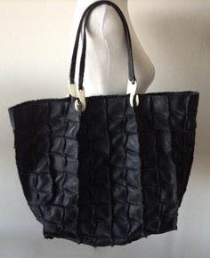 Jamin Puech Black Leather Patchwork Tote.  SOLD!