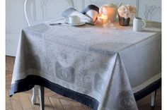 Bagatelle French luxury tablecloth from Garnier-Thiebaut