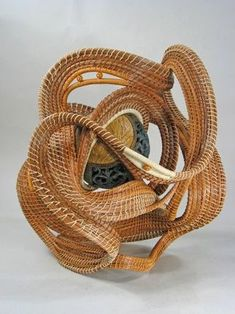 Peggy Wyman is my artist of the week. She weaves these amazing sculptures using pine needles. Her main character is a basket weaver, so she took a class to. Pine Needle Crafts, Miniature Dolls, Miniature Houses, Reborn Dolls, Reborn Babies, Baby Dolls, Bountiful Baskets, Bamboo Art, Pine Needle Baskets