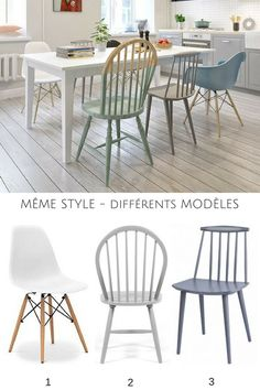 Discover recipes, home ideas, style inspiration and other ideas to try. Mismatched Dining Chairs, Dinning Chairs, Painted Chairs, Painted Furniture, Loft Cafe, Cafe Interior Design, Cafe Tables, Cafe Style, Diy Décoration