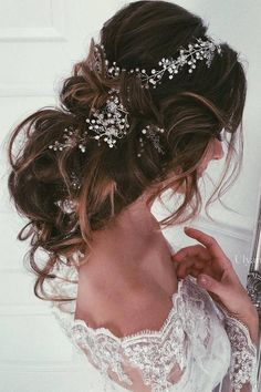 Ulyana Aster Long Wedding Hairstyles & Updos 7 / http://www.deerpearlflowers.com/romantic-bridal-wedding-hairstyles/3/