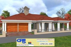 Overall Dimensions- x mBathrooms- 3 Garages- 2 Car Garage Area- Square meters Four Bedroom House Plans, Dream House Plans, House Floor Plans, My Dream Home, Dream Homes, Contemporary House Plans, Modern House Design, House Outside Design, House Plans With Photos