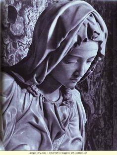 Michelangelo. Pieta (detail). 1499. Marble. St. Peter's, Vatican.
