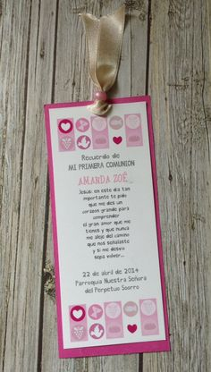 Tarjetitas de Regalo para comunion por GUGUKIDSDESIGN en Etsy Baby Girl Christening, Boy Baptism, Baptism Cards, First Communion Invitations, Christening Party, First Holy Communion, Communion Dresses, Party Time, Party Favors
