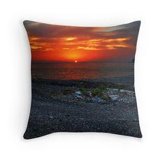 Kissen  Felsenküste im Sonnenuntergang Lava, Accessories, Rocks, Sunset, Pallet, Jewelry Accessories