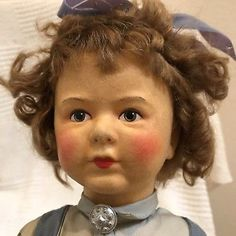 RARE Size Vintage Felt OSLO NORWAY Doll by Norwegian Artist Ronnaug Petterssen