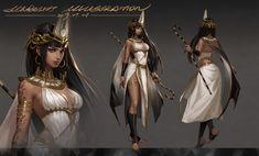 art station - Y u Lin Female Character Design, Character Design Inspiration, Character Art, Anime Egyptian, Egyptian Art, Goddess Art, Egyptian Goddess, Chica Fantasy, Fantasy Girl
