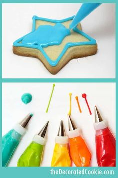 COOKIE DECORATING 101! Basic cookie decorating instructions. How to pipe royal icing, flooding. #cookieDecorating #cookies