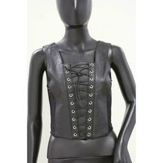 Live-Ride-Rock® Ladies' Solid Genuine Leather Vest #LiveRideRock