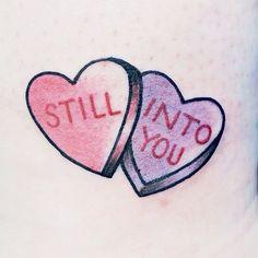 Candy hearts, Paramore tattoo