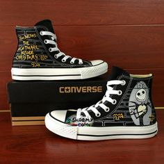 34873f6fa3ac Converse Shoes Nightmare Before Christmas Hand Painted Canvas Sneaker Hand  Painted Shoes