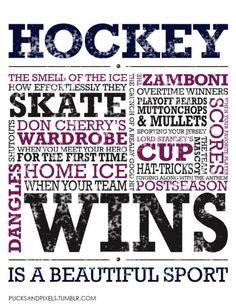 Love hockey.