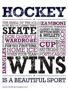 Love hockey.