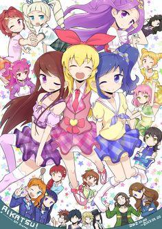 All Aikatsu! Idol Shining Like Mizuki an a top idol