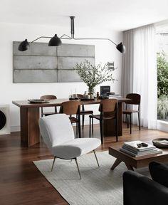 rensa i röran med feng shui | Simplicity | Skonahem Architectural Digest, Dining Room Walls, Living Room, Walnut Furniture, Nordic Furniture, Plywood Furniture, Furniture Ideas, Modern Furniture, Furniture Design
