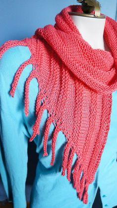Lunatic Fringe designed by Jennifer Dassau knit by GGMadeit made with Cascade Ultra Pima 100% cotton yarn