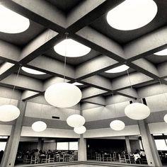 Interior of the Stony Brook Union, ca. 1970s. Stony Brook University Archives. #seawolvesread #stonybrooku #stonybrook #fbf